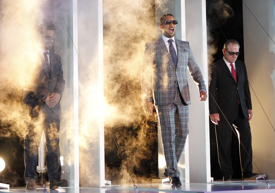 Cast members Josh Brolin, Will Smith and Tommy Lee Jones enter stage at a red carpet event to promote their film quotMen in Black IIIquot in Japan