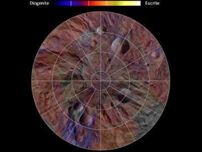 Mineral Diversity at Vesta039s South Pole