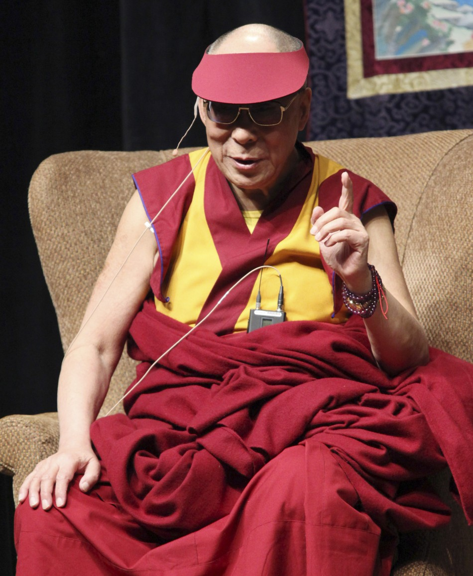 The Dalai Lama  at a public talk in Ottawa