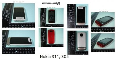 Nokia 305, 306 and 311 Handsets Leaked Online