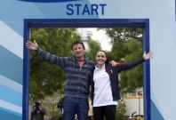 Jamie Oliver and Victoria Pendleton