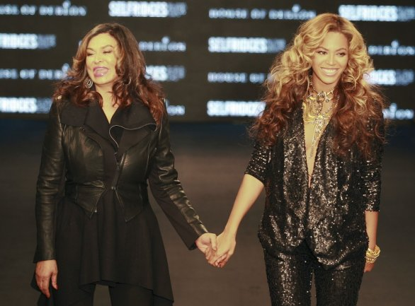 Tina and Beyonce Knowles