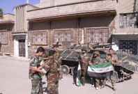 Syrian soldiers who have defected to join the Free Syrian Army