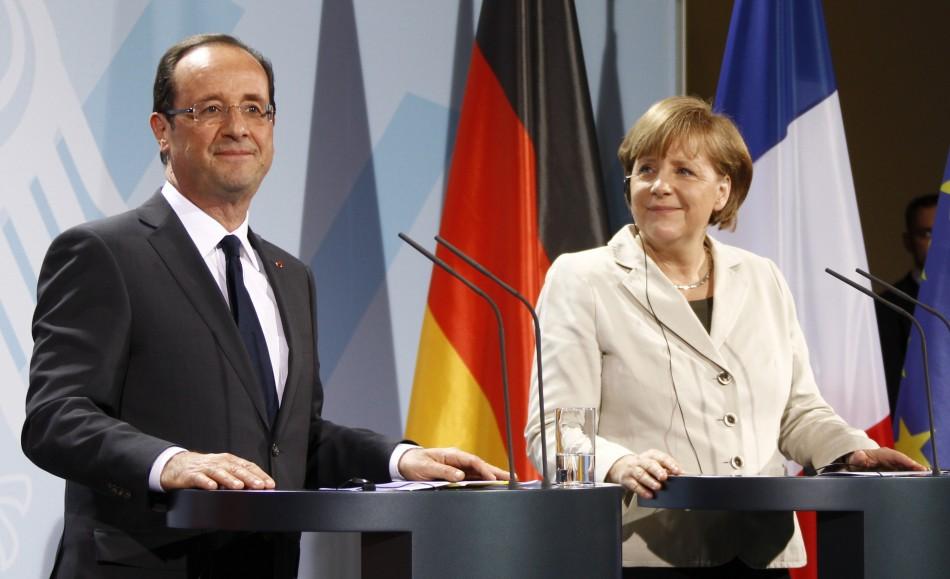 Hollande- Merkel Meeting in Berlin