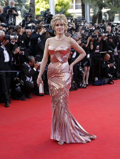 Actress Fonda arrives on the red carpet for the screening of the film Moonrise Kingdom in competition at the 65th Cannes Film Festival