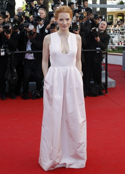 Actress Chastain arrives on the red carpet for the screening of the film Moonrise Kingdom in competition at the 65th Cannes Film Festival