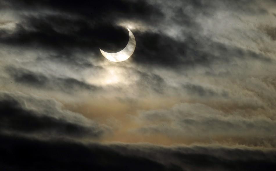 A partial solar eclipse in Milan