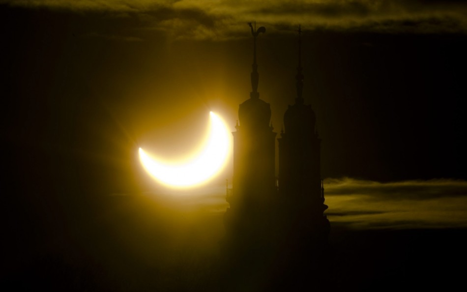 A partial solar eclipse seen in Stockholm
