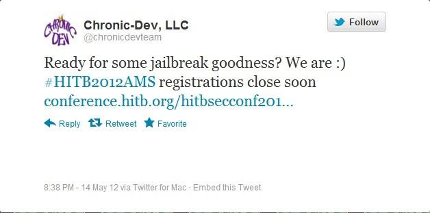 Chronic Dev HITB Tweet