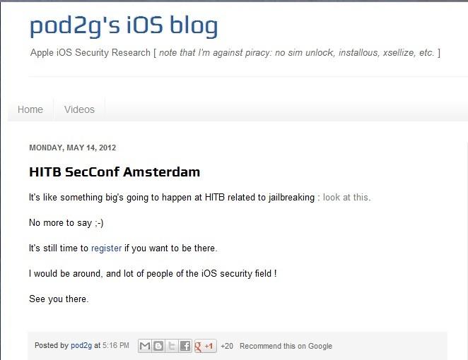 pod2g's iOS blog