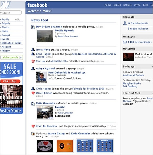 The Many Faces of Facebook September 2006