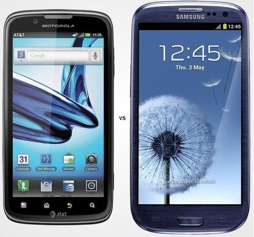 Samsung Galaxy S3 Faces Motorola Atrix 2