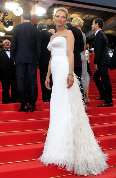 Jury member Thurman arrives on the red carpet for the screening of quotMidnight In Parisquot by director Allen and for the opening ceremony of the 64th Cannes Film Festival in Cannes