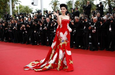 Chinese actress Fan Bing Bing arrives on the red carpet for the opening ceremony of the 64th Cannes Film Festival in Cannes May 11, 2011.