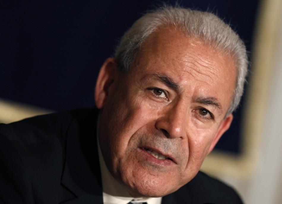 Burhan Ghalioun, head of the opposition Syrian National Council (SNC),