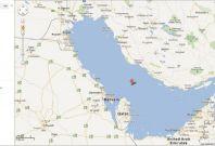 Map of Persian Gulf on Google Maps