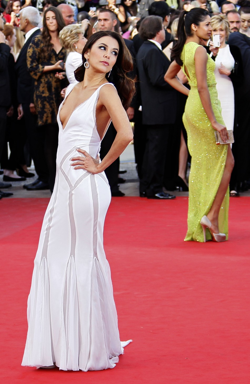 Actress Longoria arrives on the red carpet for the screeing of the film De rouille et dos at the 65th Cannes Film Festival