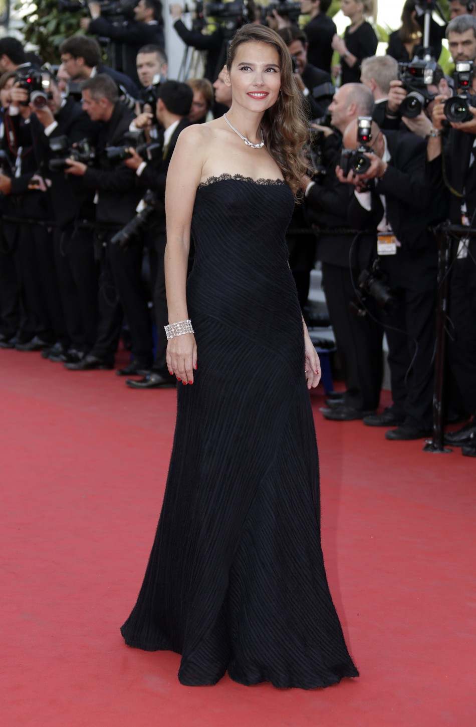 Actress Ledoyen arrives on the red carpet for the screeing of the film De rouille et d'os at the 65th Cannes Film Festival