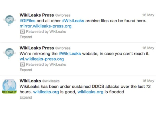 WikiLeaks Twitter updates
