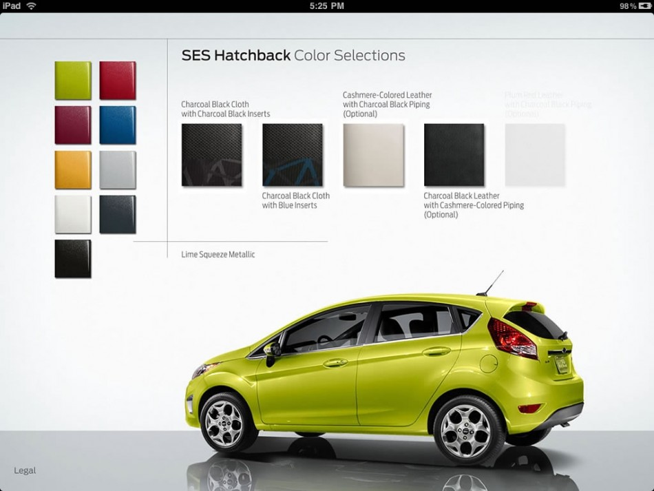 Ford Fiesta iPad apps