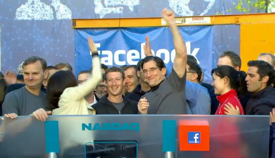 Facebook IPO: Mark Zuckerberg Celebrates With Employees As Nasdaq Begins Trading