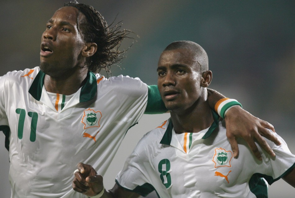 Didier Drogba and Salomon Kalou