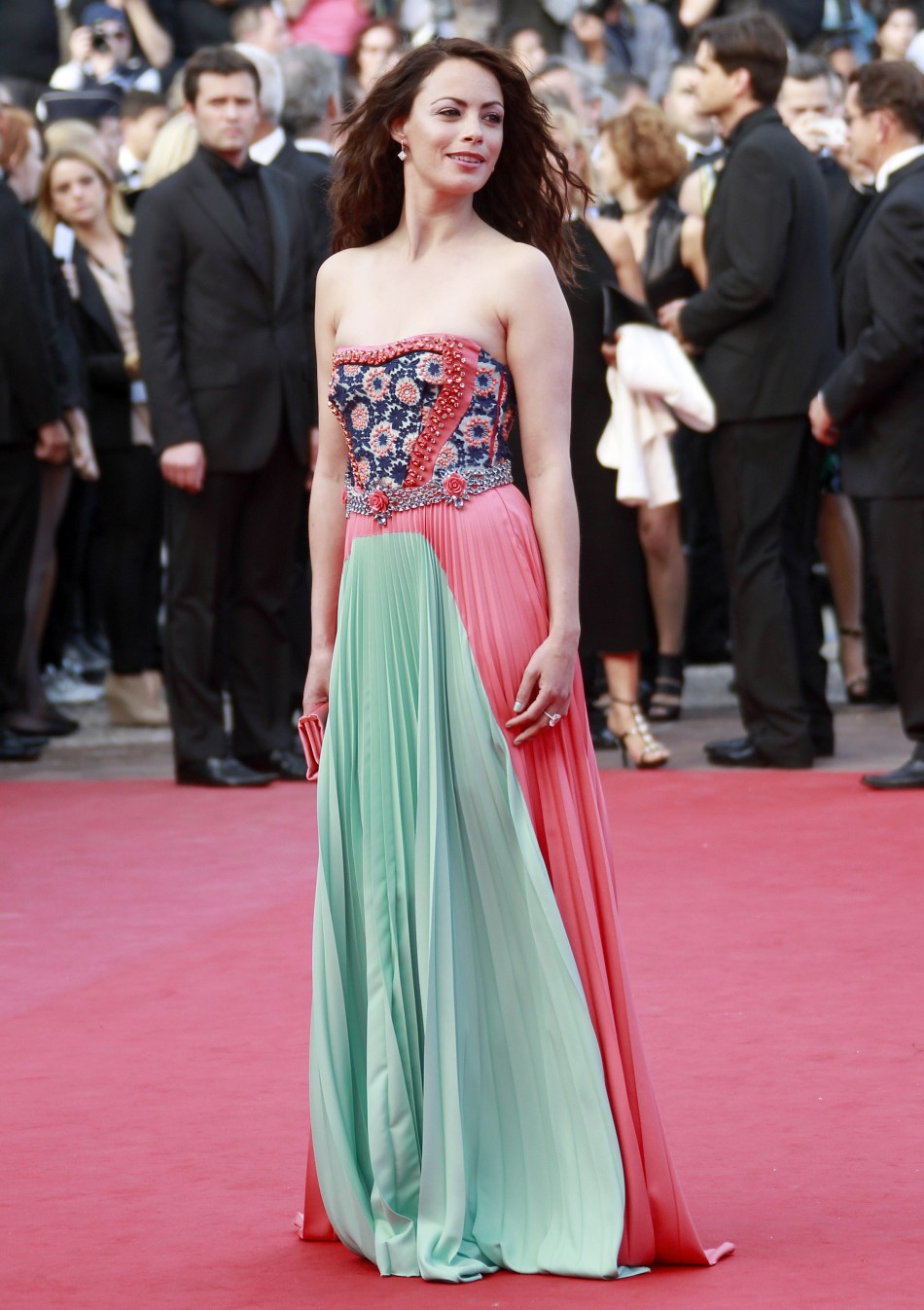 Mistress of ceremony of the 65th Cannes Film Festival Bejo arrives on the red carpet for the screening of the film Lawless at the 65th Cannes Film Festival