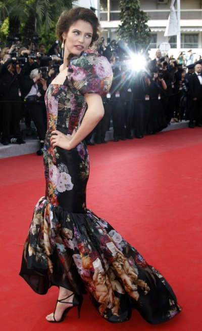 Model Balti arrives on the red carpet for the screening of the film Lawless at the 65th Cannes Film Festival