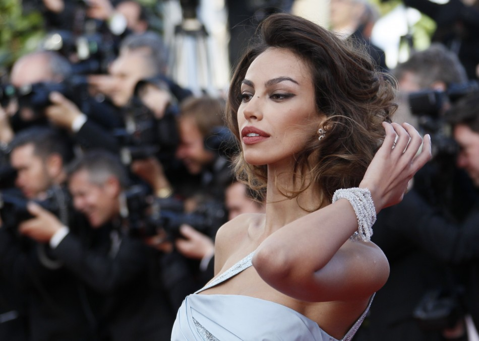 Model Ghenea arrives on the red carpet for the screening of the film Lawless in competition at the 65th Cannes Film Festival