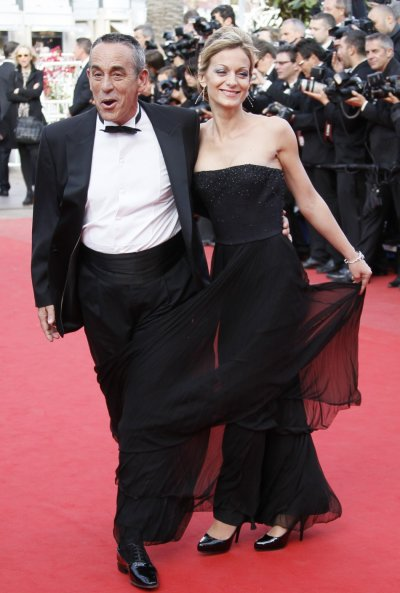 TV host Ardisson and his girlfriend Crespo-Mara arrive on the red carpet for the screening of the film Lawless in competition at the 65th Cannes Film Festival