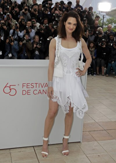 Cast member Argento poses during a photocall at the 65th Cannes Film Festival