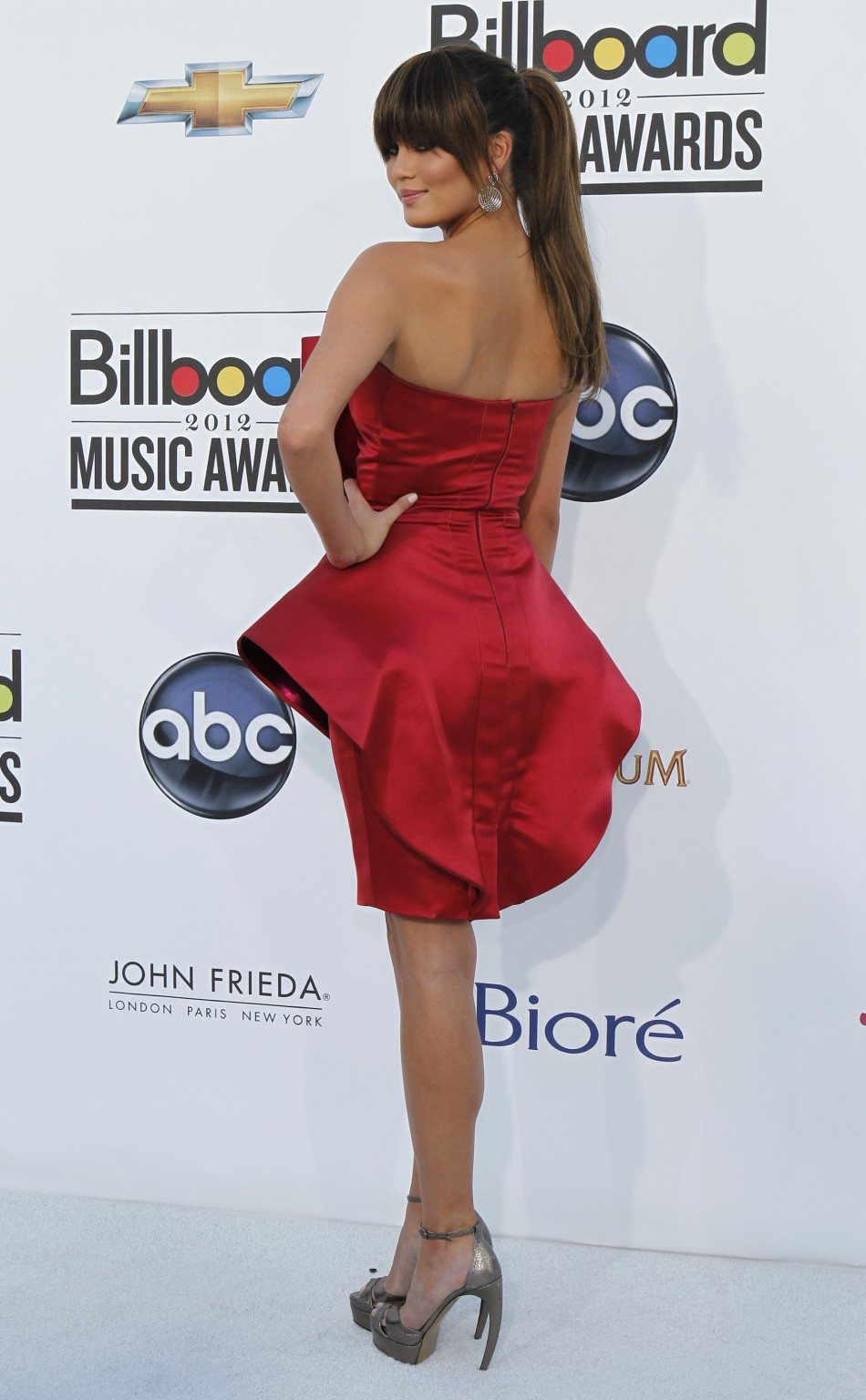 Model Chrissy Teigen arrives at the 2012 Billboard Music Awards in Las Vegas