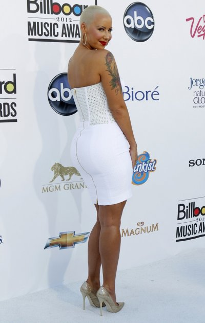 Model and actress Amber Rose arrives at the 2012 Billboard Music Awards in Las Vegas