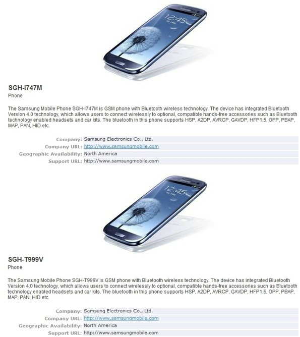 Samsung Galaxy S3 for AT&T and T-Mobile