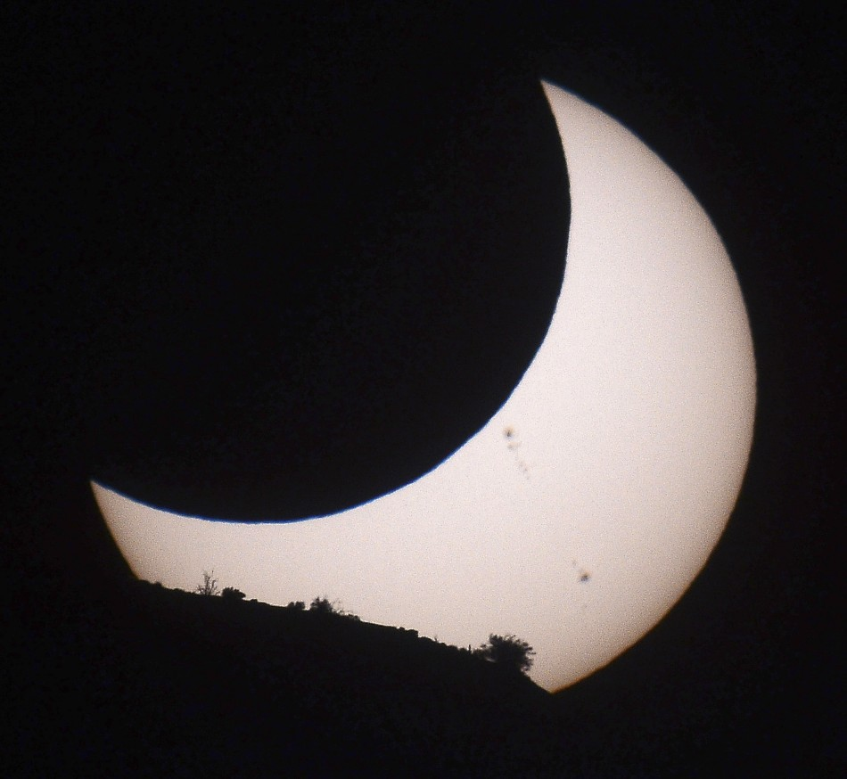 An annular eclipse is seen at Monument Valley Tribal Park in Utah