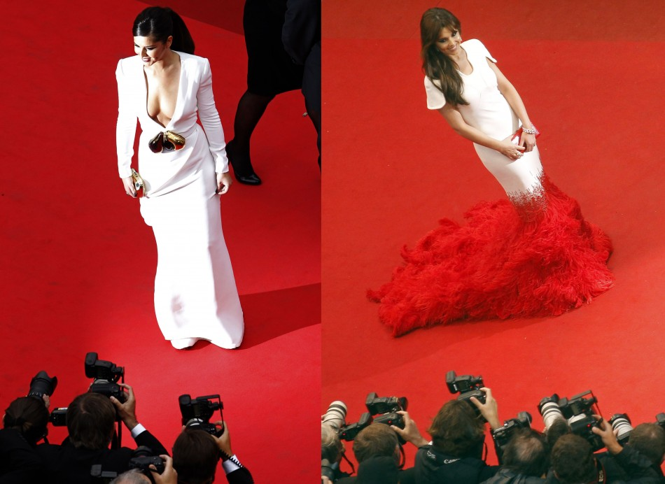 Cheryl Cole Makes Outlandish Arrival at Cannes 2012