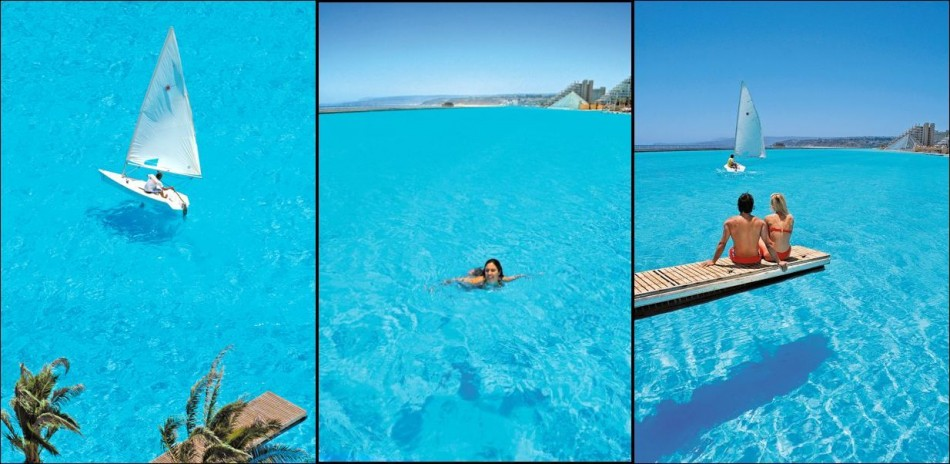 World's largest pool at San Alfonso del Mar resort in Chile. (Photo: San Alfonso del Mar)