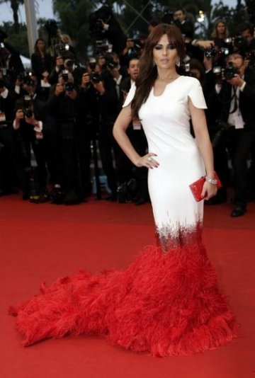 Singer Cheryl Cole poses on the red carpet ahead for the screening of the film