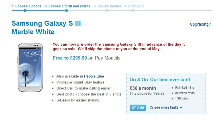 Samsung Galaxy S3 Release Day Deals