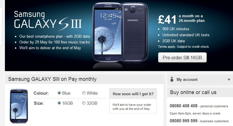 Samsung Galaxy S3 Release Day Deals