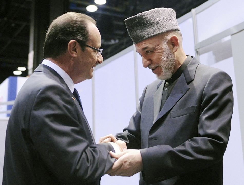 French President Francois Hollande makes unannounced visit to Afghanistan