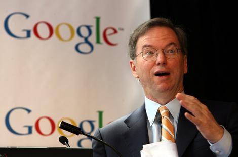 GoogleChairman Eric Schmidt