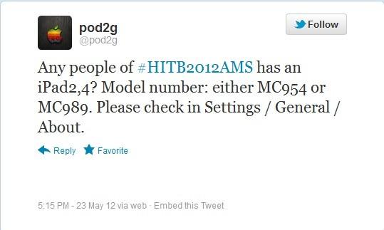 Pod2g Twitter Update