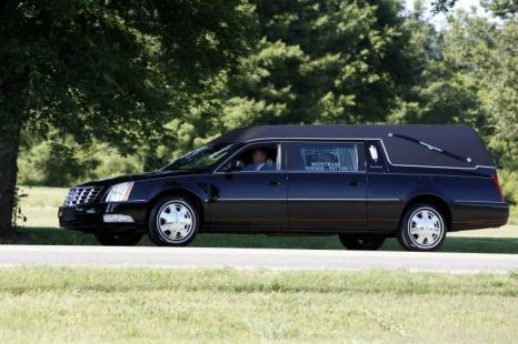 The hearse containing Donna Summer's coffin (Reuters)