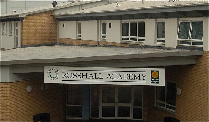 A 14-year-old boy has died at a school in Glasgow after an alleged fight broke out at the Rosshall Academy in Glasgow.