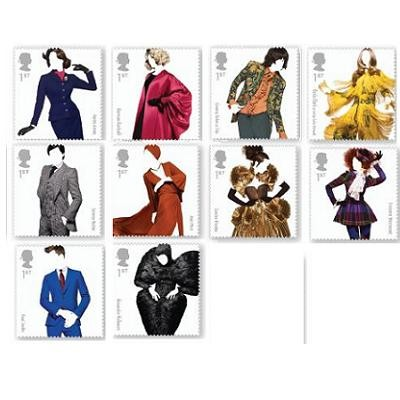 Royal Mail Releases Fashion Stamps by Renowned British Designers