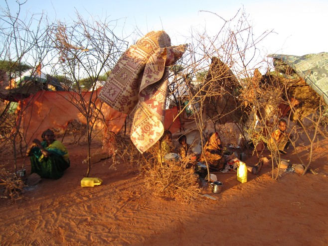 """Refugee women and children in Somaliland  fled their homes in Ethiopia as a result of a """"Liyu police"""" operation"""