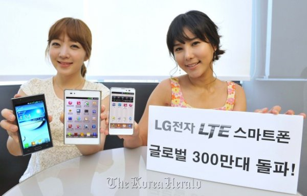 LG Electronics claims that it has sold more than three million handsets globally