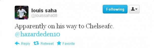 Saha's tweet