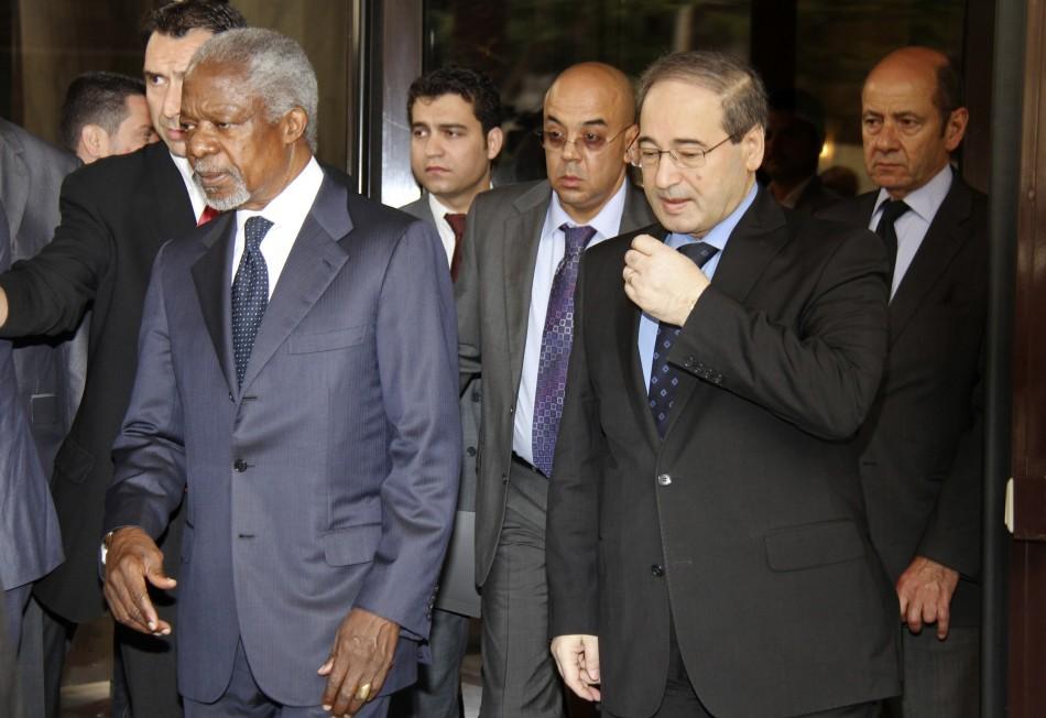 UN-Arab League envoy Kofi Annan departs for meeting with Syrian President Bashar al-Assad in Damascus